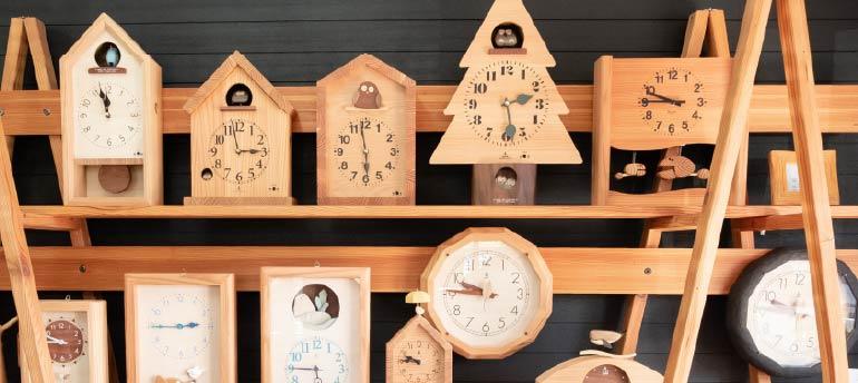 木製の掛け時計・置き時計・からくり時計など贈り物に人気の手作り時計 |キコリ時計工房(Kicori)