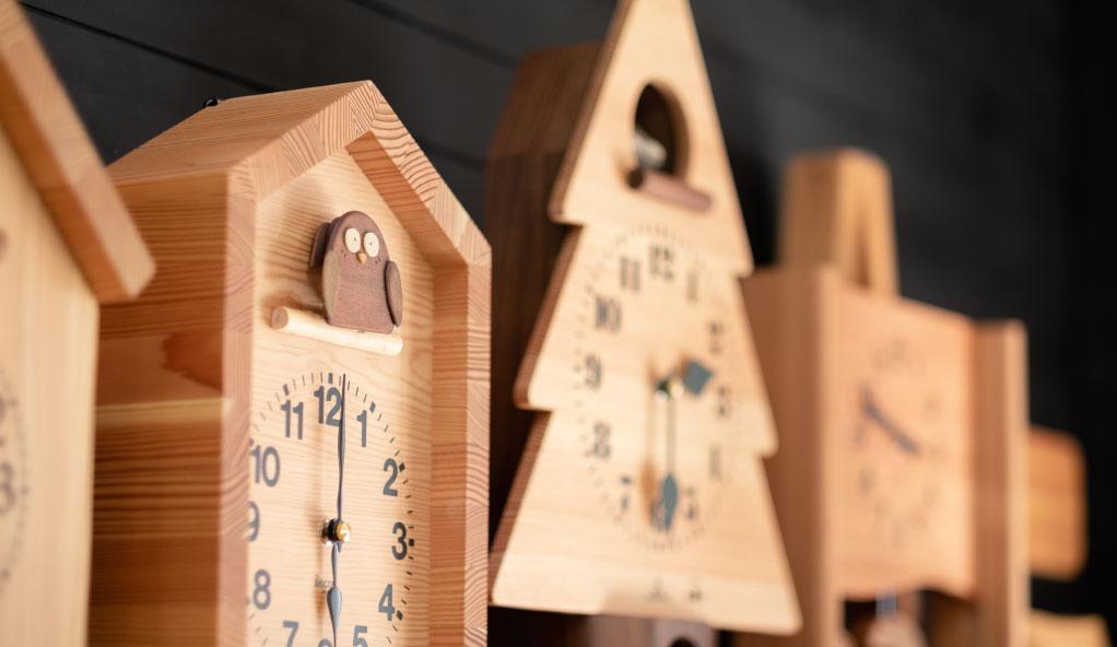 木製の掛け時計・置き時計・からくり時計など贈り物に人気の手作り時計 |キコリ時計工房(Kicori)【本店】|カテゴリ―画像