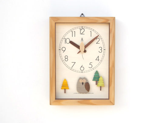 森の電葉時計(フクロウ振子)