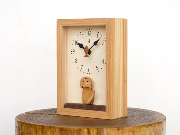 木製の掛け時計・置き時計・からくり時計など贈り物に人気の手作り時計 |キコリ時計工房(Kicori)【本店】|仔猫の時計