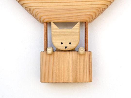 木製の掛け時計・置き時計・からくり時計など贈り物に人気の手作り時計 |キコリ時計工房(Kicori)【本店】|気球の時計