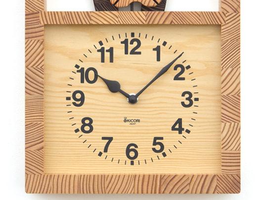 木製の掛け時計・置き時計・からくり時計など贈り物に人気の手作り時計 |キコリ時計工房(Kicori)【本店】|ネコの親子の時計