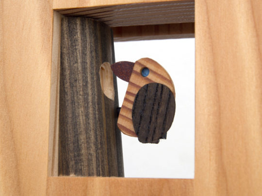 木製の掛け時計・置き時計・からくり時計など贈り物に人気の手作り時計  キコリ時計工房(Kicori)【本店】 キツツキの時計