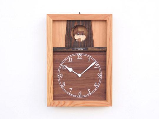 リスのお家の時計