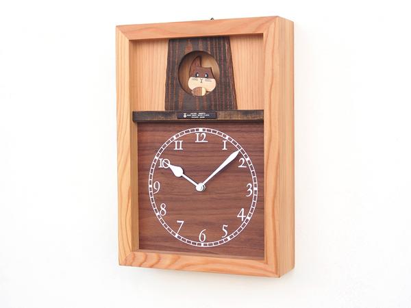 木製の掛け時計・置き時計・からくり時計など贈り物に人気の手作り時計 |キコリ時計工房(Kicori)【本店】|リスのお家の時計