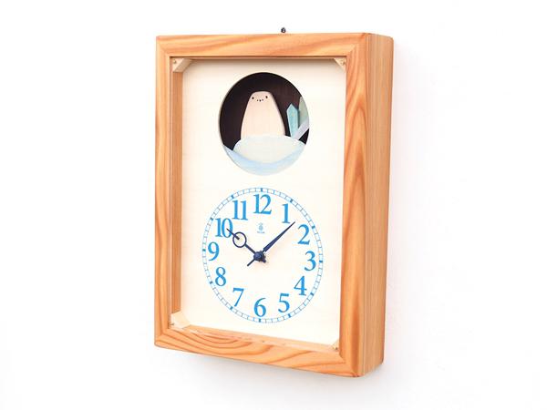 木製の掛け時計・置き時計・からくり時計など贈り物に人気の手作り時計 |キコリ時計工房(Kicori)【本店】|しろくまの時計