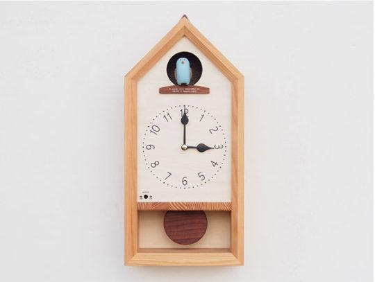 青い鳥のカッコー時計
