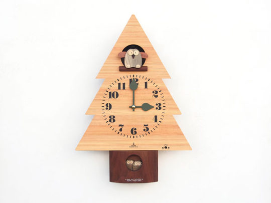 森のフクロウ時計