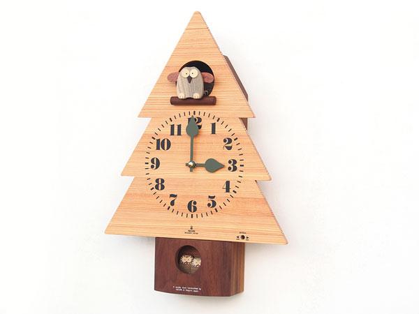 木製の掛け時計・置き時計・からくり時計など贈り物に人気の手作り時計  キコリ時計工房(Kicori)【本店】 森のフクロウ時計