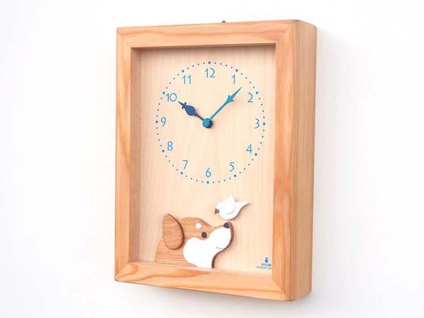 木製の掛け時計・置き時計・からくり時計など贈り物に人気の手作り時計 |キコリ時計工房(Kicori)【本店】|柴犬と白文鳥の時計