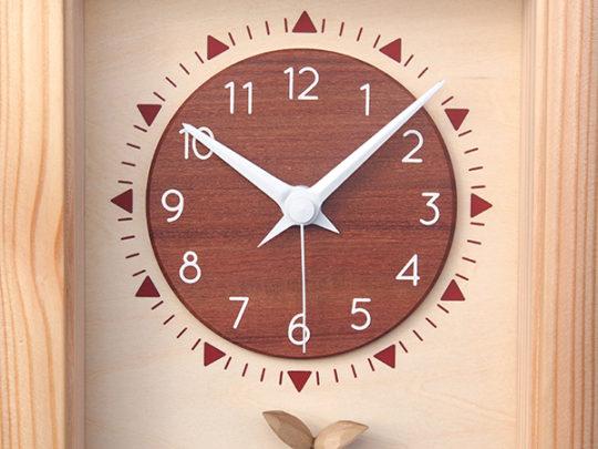 木製の掛け時計・置き時計・からくり時計など贈り物に人気の手作り時計 |キコリ時計工房(Kicori)【本店】|ひなたの時計