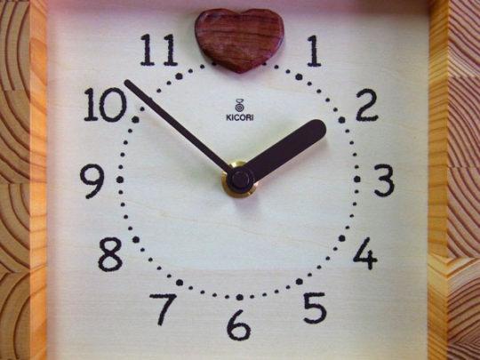 木製の掛け時計・置き時計・からくり時計など贈り物に人気の手作り時計 |キコリ時計工房(Kicori)【本店】|ハートフル時計