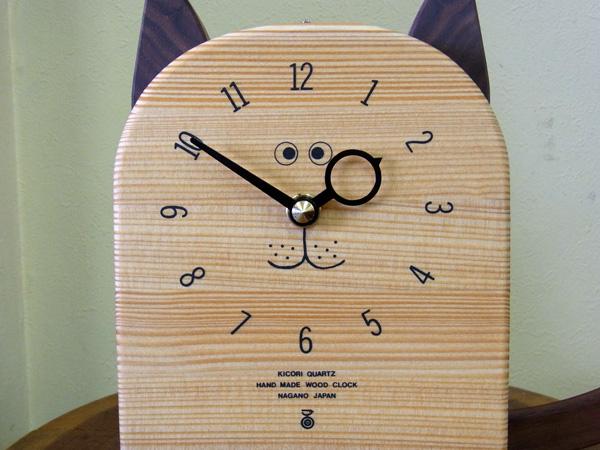木製の掛け時計・置き時計・からくり時計など贈り物に人気の手作り時計 |キコリ時計工房(Kicori)【本店】|ねこの時計